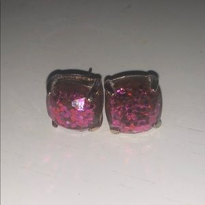 Francesca's Collections Jewelry - Pink glitter studs!